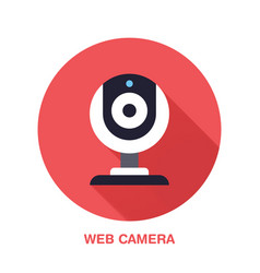 Web camera flat style icon wireless technology vector