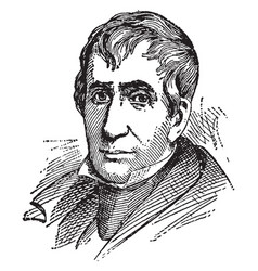 william henry harrison vintage vector image
