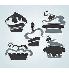 cake symbols vector image vector image