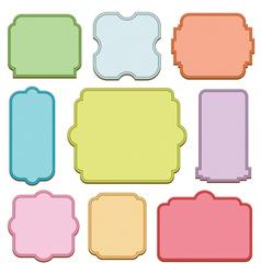 decorative blank frames vector image