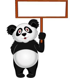 Panda Cartoon with banner vector image vector image
