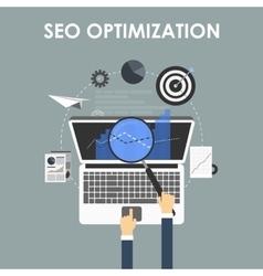 SEO optimization programming process vector image vector image