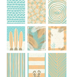 Set of summer vacation backgrounds vector image vector image
