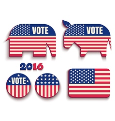 vote usa 2016 vector image