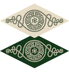 Celtic style pattern vector image vector image
