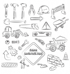 construction set vector image vector image