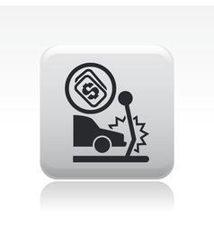 crash icon vector image vector image