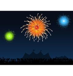festival fireworks vector image