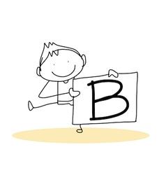 happiness alphabet vector image