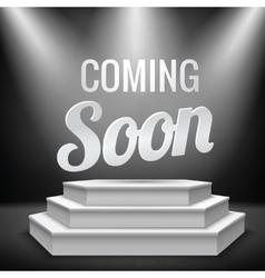 Illuminated blank podium vector
