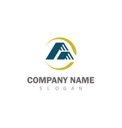 roof company logo vector image vector image