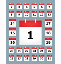 Set of calendar pages vector image
