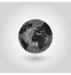 Abstract Globe planet Earth concept global vector image
