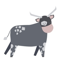 Cartoon cow character vector image