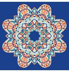 Ornamental colorful mandala square flyer card vector image