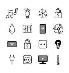 Set of icons Internet of things Smart house vector image vector image