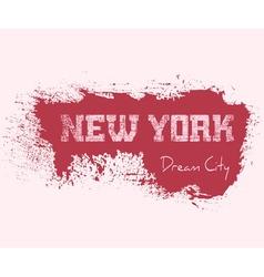 T shirt typography graphics New York girl vector image vector image