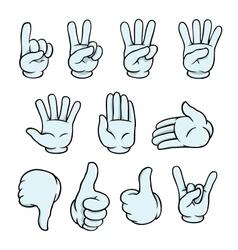 Cartoon hands set vector image vector image
