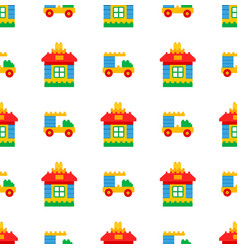 childrens toys for play time seamless pattern vector image vector image