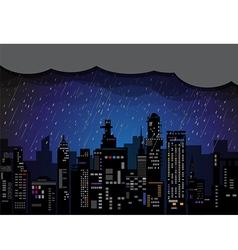 City rain vector