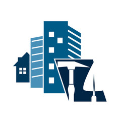 construction of houses symbol vector image vector image