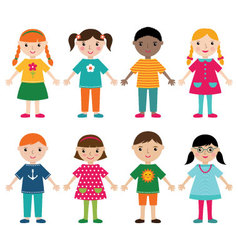 Cute kids vector image