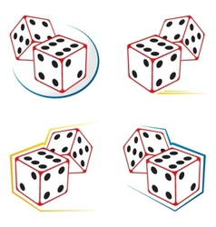 Dices icons vector image vector image