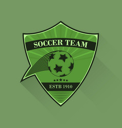 football logo soccer logotype in flat design vector image vector image