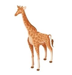 Isometric Giraffe icon vector image