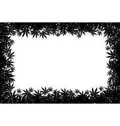 Marijuana frame vector image vector image
