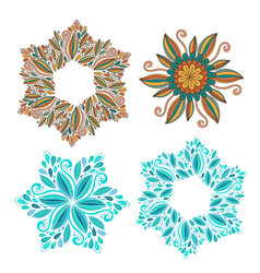 set of decorative frame modern elements for vector image vector image