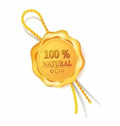 100 natural golden label Stock Photos vector image