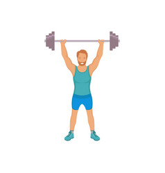 a bodybuilder vector image