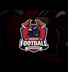 american football sport logo design vector image
