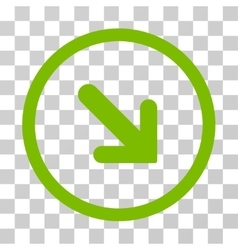 Arrow Right Down Rounded Icon vector