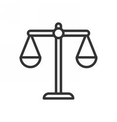 Balance outline icon vector image