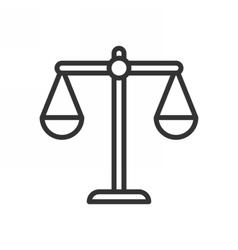 Balance outline icon vector