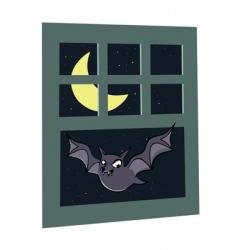 bat window vector image