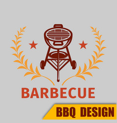 Bbq grill logo image vector