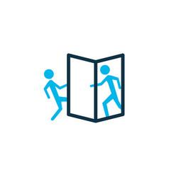 Beware of opening door icon colored symbol vector