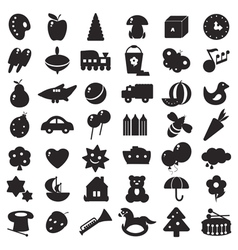 Black silhouettes toys vector
