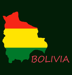 bolivia flag map vector image