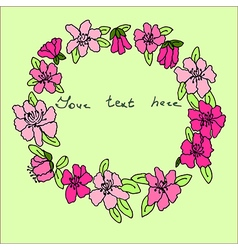 Bright hand drawn floral frame clip art vector image