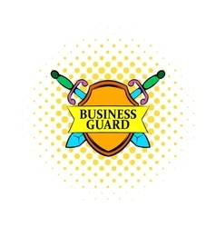 Business guard icon comics style vector