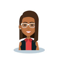 Businesswoman avatar character icon vector