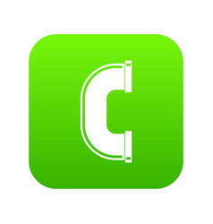 C joint pipe icon digital green vector