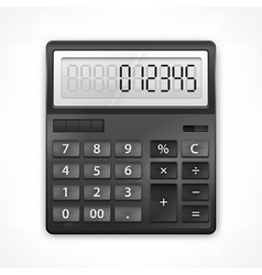 Calculator on white vector