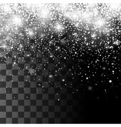 Christmas sparkling transparent Snowfall vector image