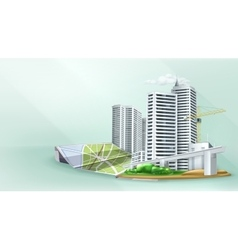 City building background vector