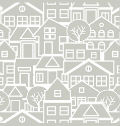 City pattern silhouette vector